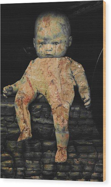 Doll R Wood Print