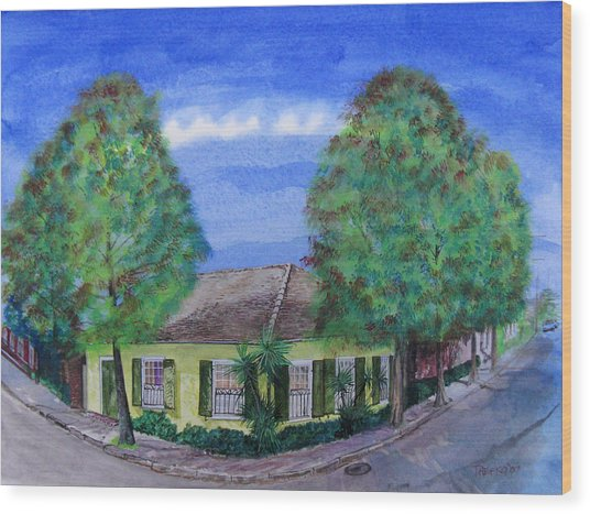 Dolliole Cottage Wood Print by Tom Hefko