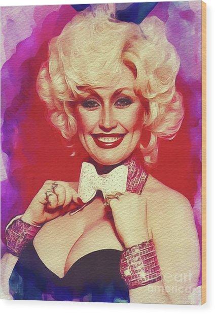Dolly Parton, Music Legend Wood Print