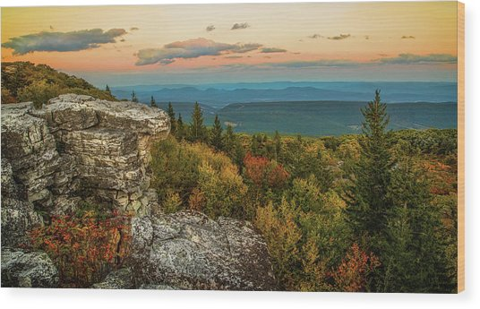 Dolly Sods Autumn Sundown Wood Print