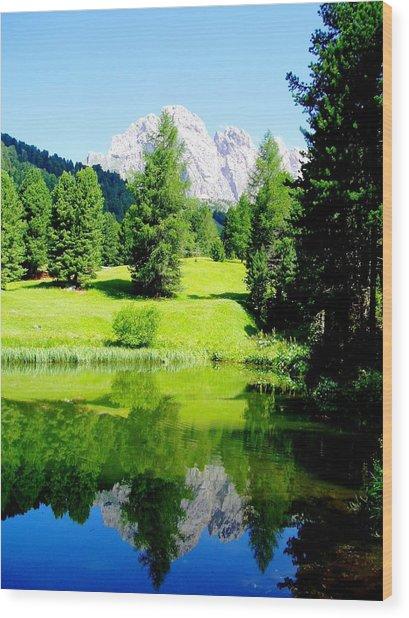 Dolomiti Wood Print by Darkus Photo