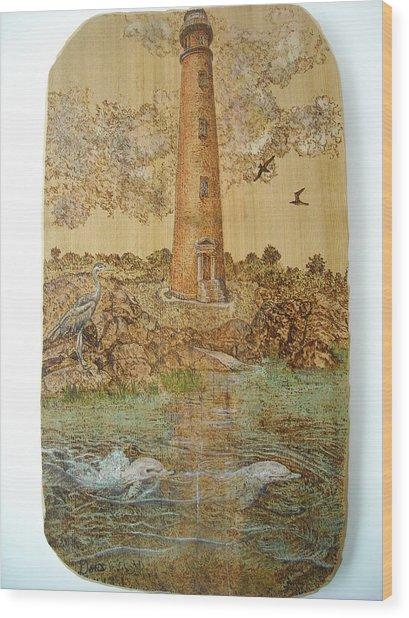 Dolphins Visit Ponce De Leon Wood Print by Doris Lindsey