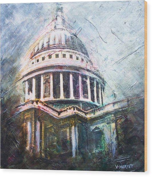 Dome Of Saint Pauls Wood Print by Victoria Heryet