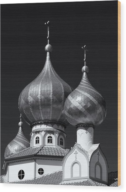 Domes Wood Print