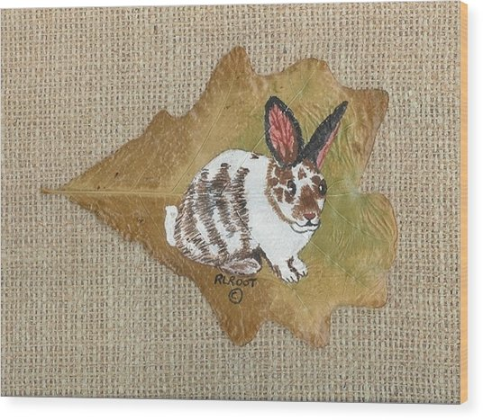 domestic Rabbit Wood Print