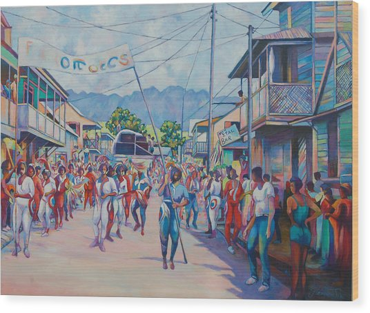 Dominica Carnival Wood Print