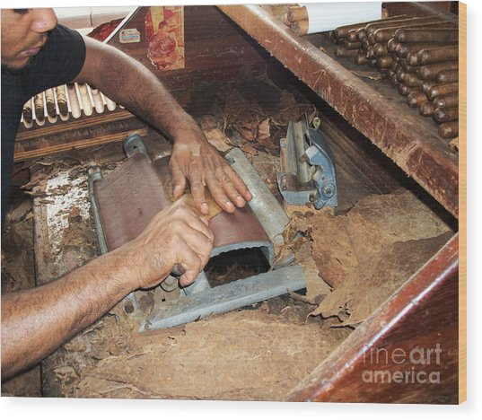 Dominican Cigars Made By Hand Wood Print
