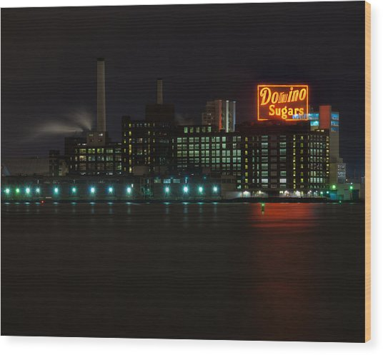 Domino Sugars Wide Wood Print