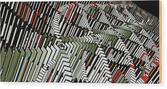 Dominos Wood Print by David BERNARD