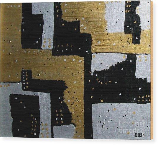 Dominos Wood Print by Marsha Heiken
