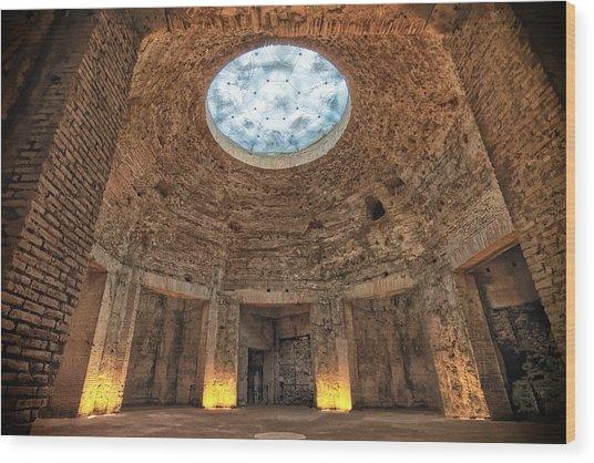 Domus Aurea Rotunda Wood Print