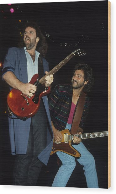 Don Barnes And Jeff Carlisi Of 38 Special Wood Print