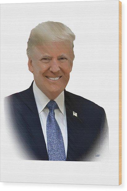 Donald Trump - Dwp0080231 Wood Print