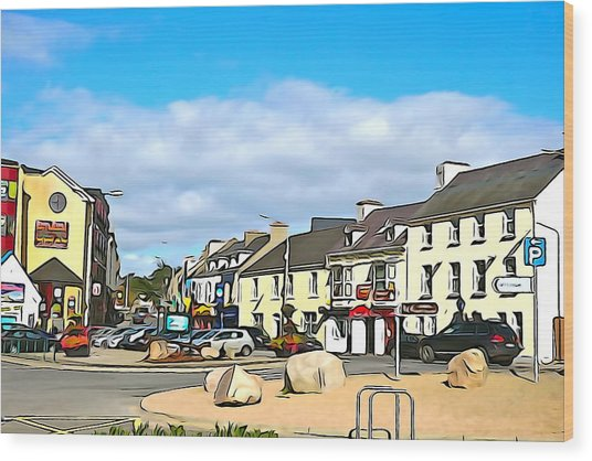 Donegal Town Wood Print