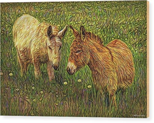 Donkey Confidential Wood Print