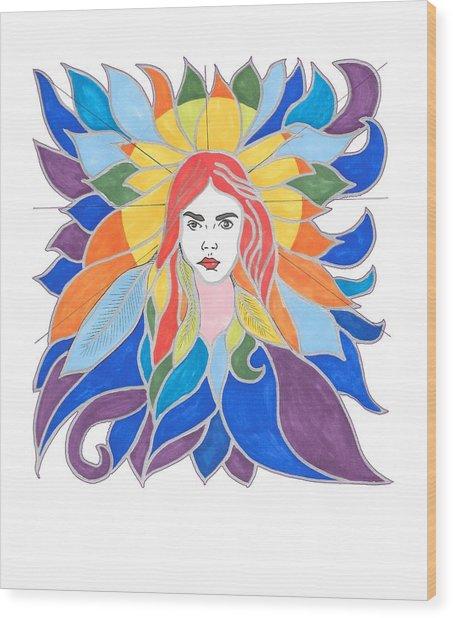Donna Soul Portrait Wood Print
