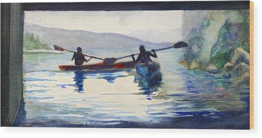 Donner Lake Kayaks Wood Print