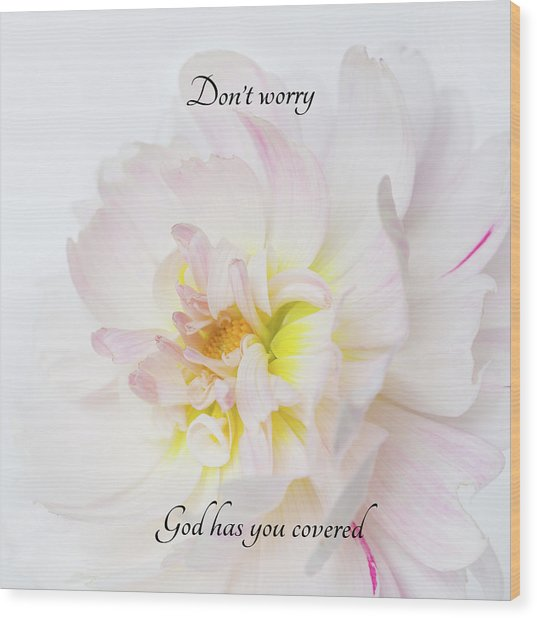 Don't Worry Square Wood Print