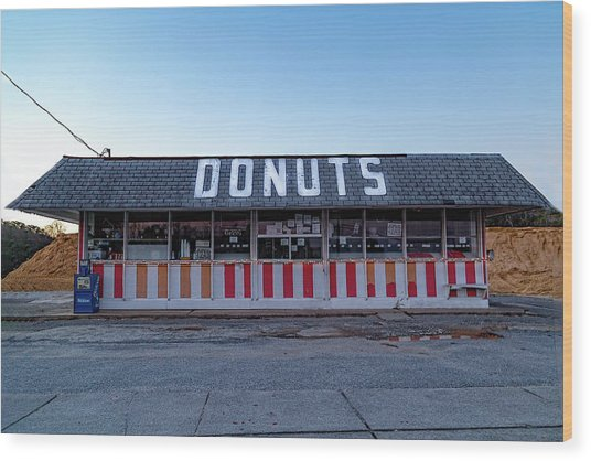 Donut Shop No Longer 3, Niceville, Florida Wood Print