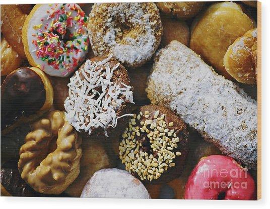 Donuts Wood Print