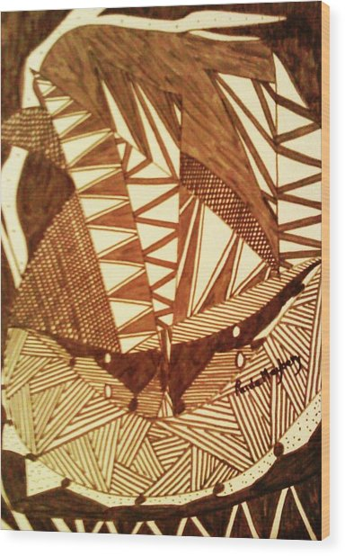 Doodlewat7 Wood Print