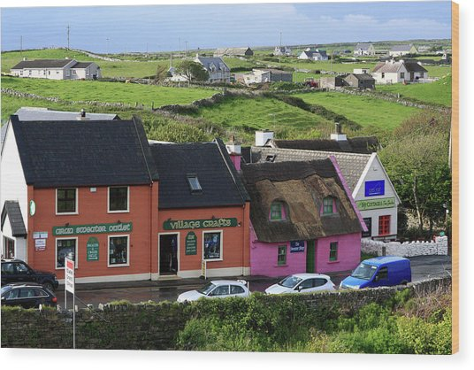 Doolin Village County Clare Wood Print