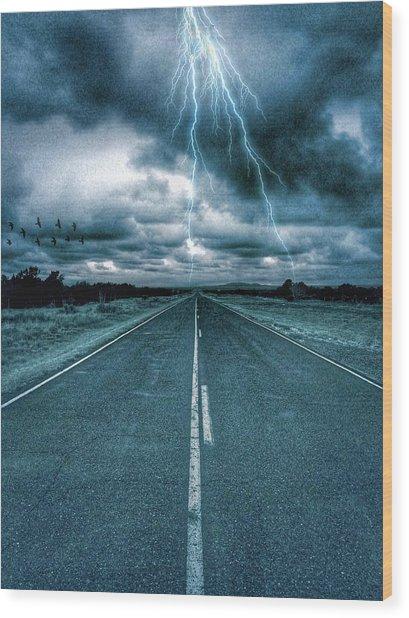 Doomsday Road Wood Print