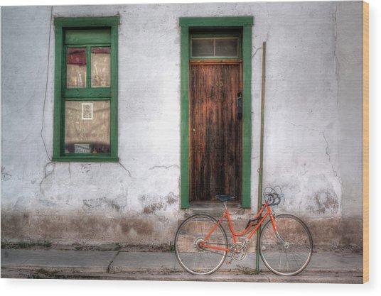 Door 345 Wood Print