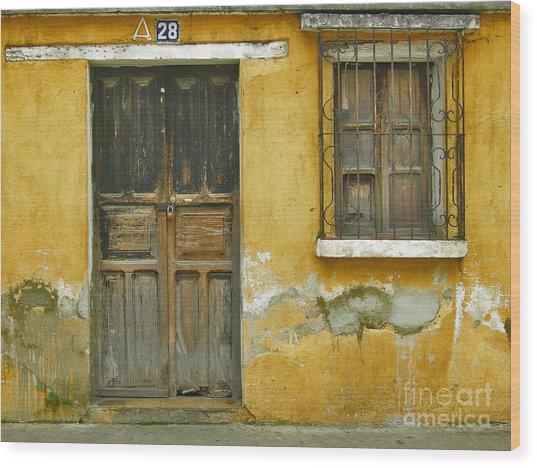 Door And Window Wood Print by Derek Selander