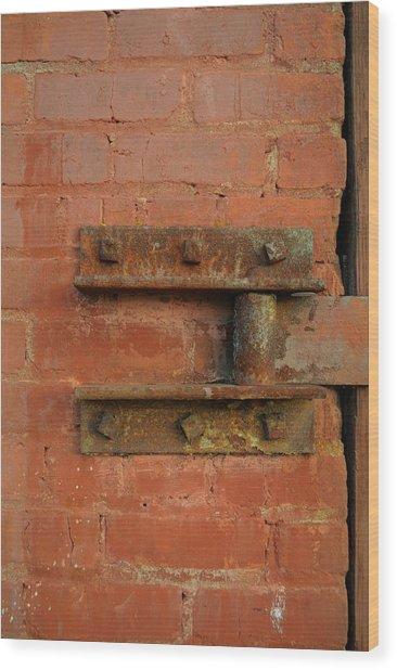 Door Hinge Wood Print