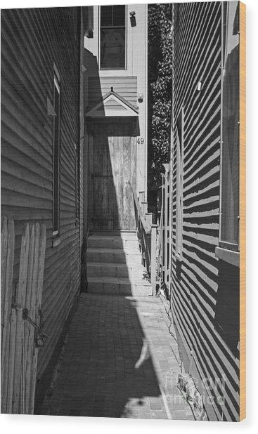Door In An Alley Wood Print