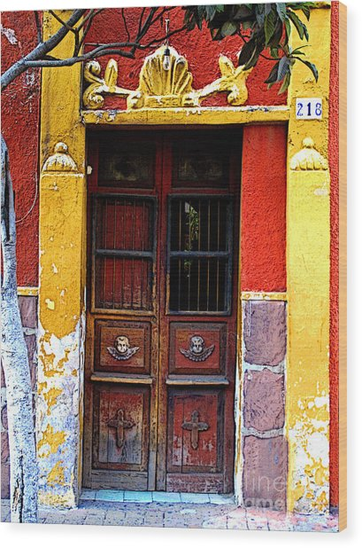 Door In The House Of Icons Wood Print