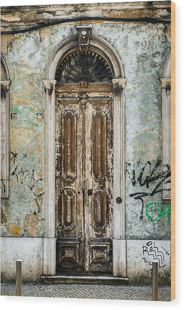 Door No 35 Wood Print