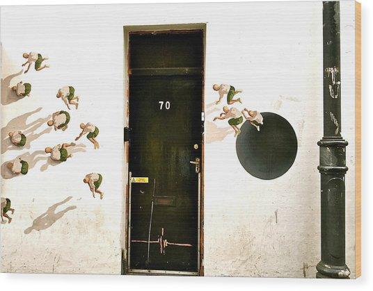 Door Seventy Street Art Wood Print