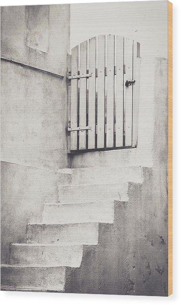 Door To Nowhere. Wood Print