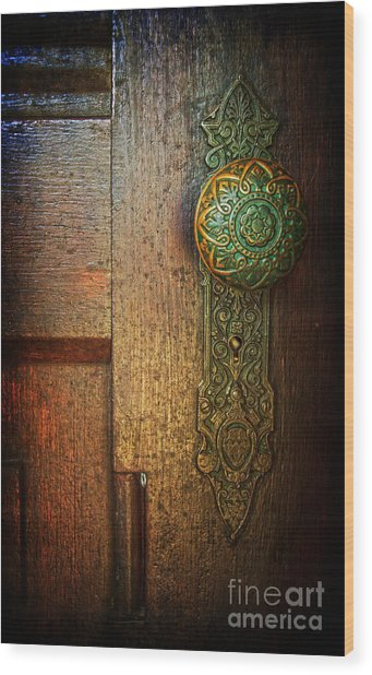 Doorknob Wood Print