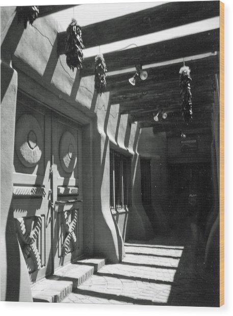 Doors And Shadows Wood Print