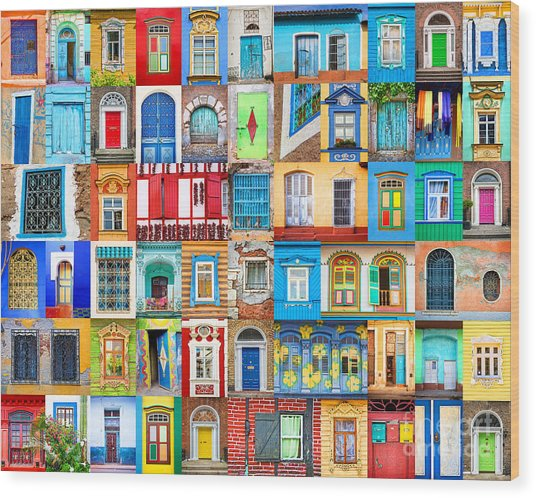 Doors And Windows Of The World Wood Print