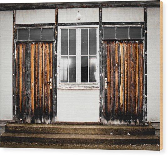 Doors Of Dachau Wood Print