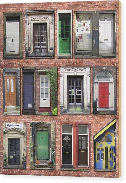 Doors Of England I Wood Print by Helaine Cummins