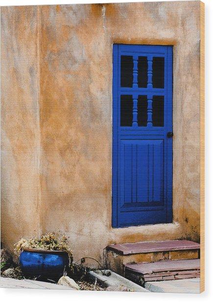 Doors Of Taos Wood Print