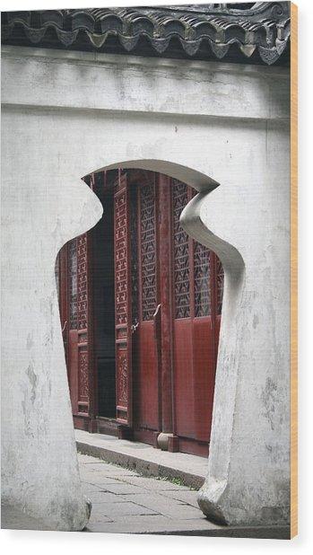 Doorway Wood Print by Erika Lesnjak-Wenzel