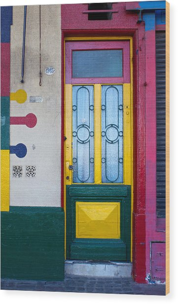 Doors Of San Telmo, Argentina Wood Print
