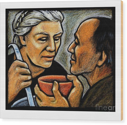 Dorothy Day Feeding The Hungry - Jlddf Wood Print