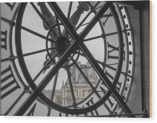 D'orsay Clock Paris Wood Print