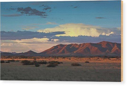 Dos Cabezos Sunset Serenity Wood Print