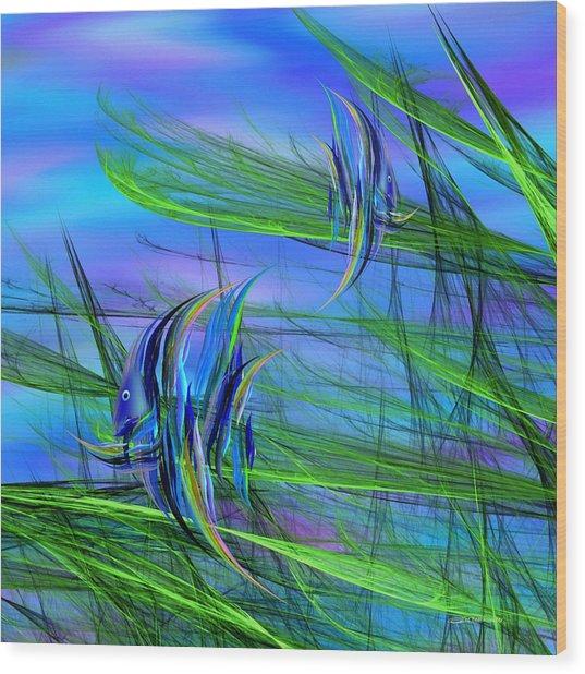 Dos Pescados En Salsa Verde Wood Print