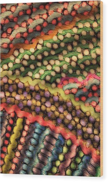 Dot Matrix Wood Print