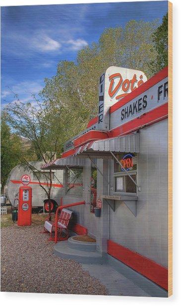 Dot's Diner In Bisbee Wood Print