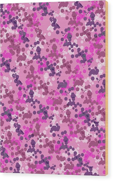 Dotted Camo Wood Print